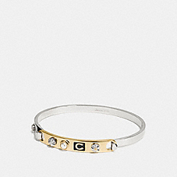 COACH F58444 - COACH ICONS TENSION BANGLE SILVER/GOLD