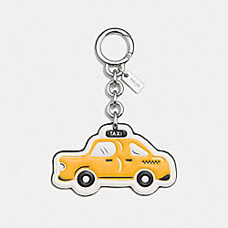 COACH F58508 Nyc Taxi Bag Charm SILVER/YELLOW