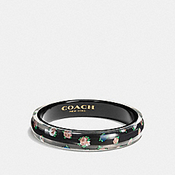 COACH F58521 Resin Floral Bangle BLACK/MULTICOLOR