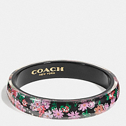 COACH F58521 - RESIN FLORAL BANGLE BLACK STRAWBERRY
