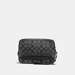 COACH POUCHETTE IN SIGNATURE - CHARCOAL/BLACK - F58541