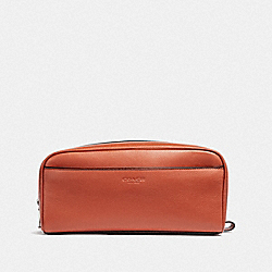 COACH F58542 Travel Kit RUSSET/BLACK ANTIQUE NICKEL