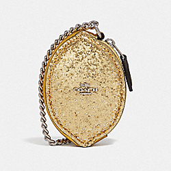 COACH F58546 Lemon Coin Case GOLD/SILVER