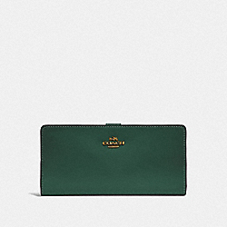 COACH F58586 - SKINNY WALLET B4/EVERGREEN