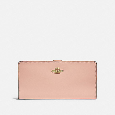 COACH F58586 SKINNY WALLET GD/NUDE-PINK