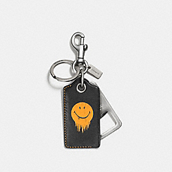 COACH F58628 Gnarly Face Bottle Opener BLACK