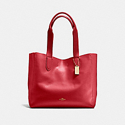 COACH F58660 - DERBY TOTE TRUE RED/LIGHT GOLD