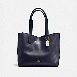 DERBY TOTE IN PEBBLE LEATHER - f58660 - LIGHT GOLD/MIDNIGHT