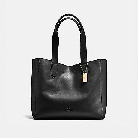 Coach F58660 Derby Tote In Pebble Leather Imitation