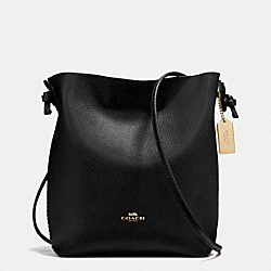 DERBY CROSSBODY IN PEBBLE LEATHER - f58661 - IMITATION GOLD/BLACK OXBLOOD 1