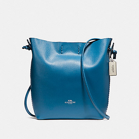 COACH f58661 DERBY CROSSBODY SILVER/BRIGHT MINERAL