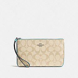 COACH F58695 Large Wristlet In Signature Canvas SVNKA