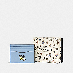 COACH F58715 - BOXED CARD CASE SV/CORNFLOWER