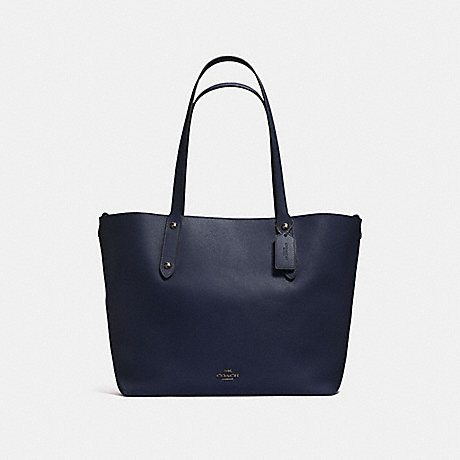 COACH F58737 LARGE MARKET TOTE NAVY/TEAL/DARK-GUNMETAL