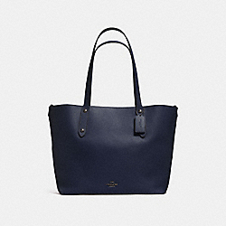 COACH F58737 - LARGE MARKET TOTE NAVY/TEAL/DARK GUNMETAL