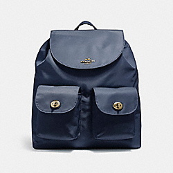 COACH F58814 - NYLON BACKPACK MIDNIGHT/LIGHT GOLD