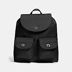 NYLON BACKPACK - f58814 - ANTIQUE NICKEL/BLACK
