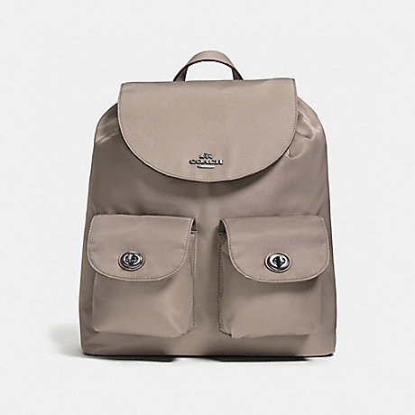 COACH f58814 NYLON BACKPACK ANTIQUE SILVER/FOG
