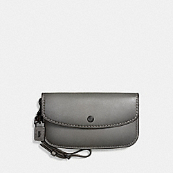 COACH F58818 - CLUTCH HEATHER GREY/BLACK COPPER
