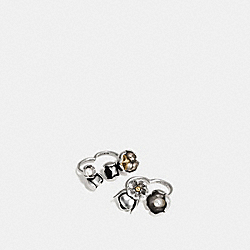 COACH F58830 Studded Tea Rose Duster Ring Set SILVER/GOLD