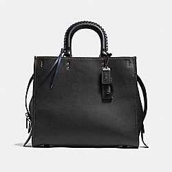 COACH ROGUE 36 WITH EMBELLISHED HANDLE - BLACK/BLACK COPPER - F58839