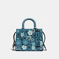 COACH F58840 - ROGUE 25 WITH TEA ROSE CHAMBRAY/BLACK COPPER