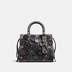 COACH F58840 - ROGUE 25 WITH TEA ROSE HEATHER GREY/BLACK COPPER