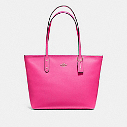 CITY ZIP TOTE - F58846 - PINK RUBY/GOLD