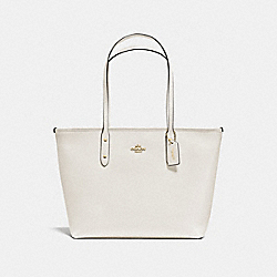 COACH F58846 - CITY ZIP TOTE CHALK/LIGHT GOLD