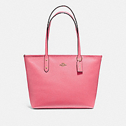 COACH F58846 City Zip Tote STRAWBERRY/IMITATION GOLD