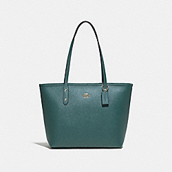 COACH F58846 City Zip Tote DARK TURQUOISE/LIGHT GOLD