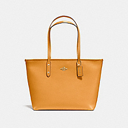CITY ZIP TOTE - f58846 - GOLDENROD/light gold
