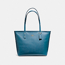 COACH F58846 - CITY ZIP TOTE INK BLUE/LIGHT GOLD