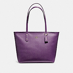 COACH F58846 - CITY ZIP TOTE GOLD/BLACKBERRY