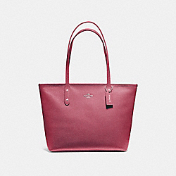 CITY ZIP TOTE - f58846 - LIGHT GOLD/ROUGE