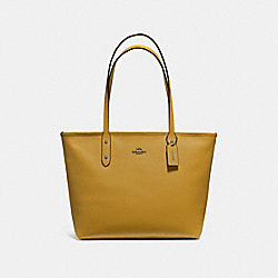 CITY ZIP TOTE - F58846 - FLAX/BLACK ANTIQUE NICKEL