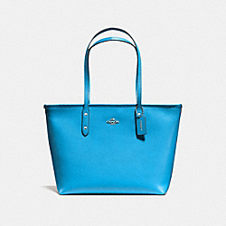 COACH F58846 City Zip Tote BRIGHT BLUE/SILVER