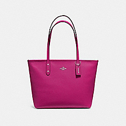 COACH F58846 - CITY ZIP TOTE CERISE/SILVER
