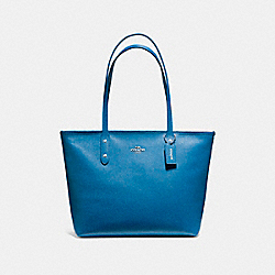 COACH F58846 - CITY ZIP TOTE SILVER/BRIGHT MINERAL