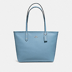 CITY ZIP TOTE - F58846 - CORNFLOWER/SILVER
