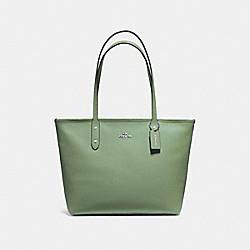 COACH F58846 City Zip Tote CLOVER/SILVER