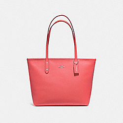 COACH F58846 City Zip Tote CORAL/SILVER