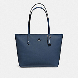 CITY ZIP TOTE - F58846 - DENIM/SILVER