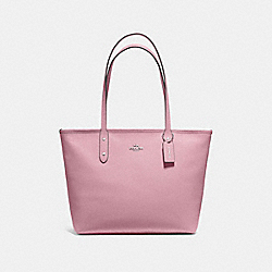 COACH F58846 City Zip Tote DUSTY ROSE/SILVER