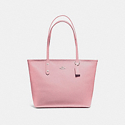 CITY ZIP TOTE - f58846 - SILVER/BLUSH 2