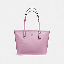 COACH F58846 - CITY ZIP TOTE LILAC/SILVER