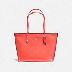 COACH F58846 - CITY ZIP TOTE SILVER/WATERMELON