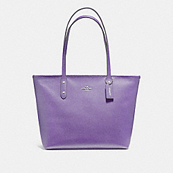 COACH F58846 City Zip Tote LIGHT PURPLE/SILVER