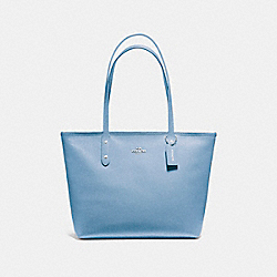 COACH F58846 City Zip Tote SILVER/POOL