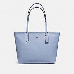 COACH F58846 City Zip Tote STEEL BLUE